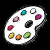 logo palette couleur