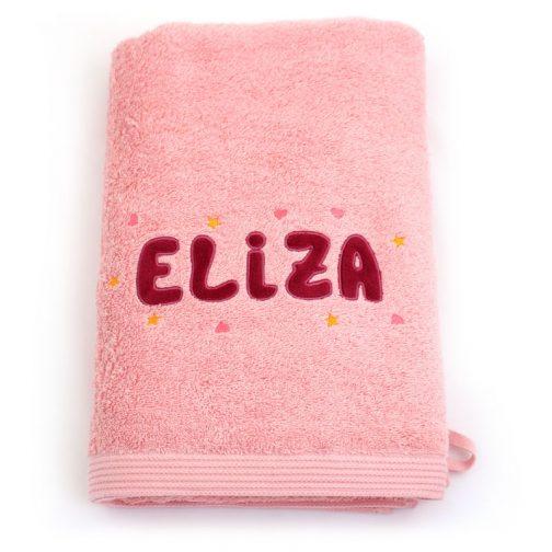 serviette blush prénom bordeaux