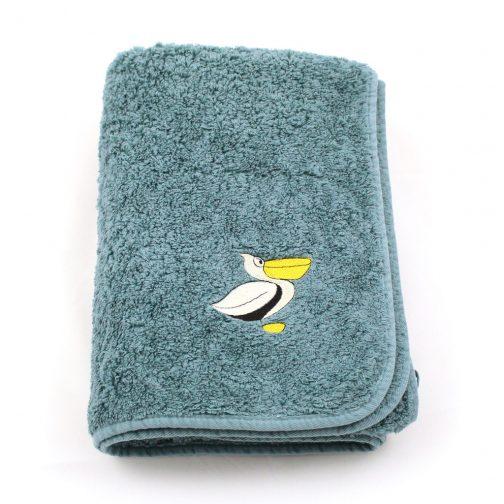 PELICH sur serviette LUXE couleur DEEP BALTIC