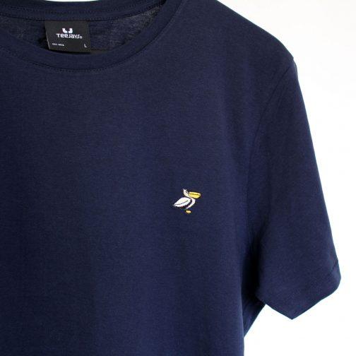 PELICH sur tshirt marine homme détail