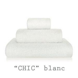 serviettes personnalisables chic blanc