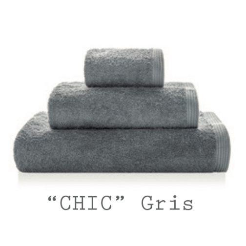 serviettes personnalisables chic gris