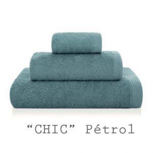 serviette personnalisable chic pétrol