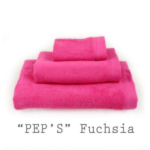 SERVIETTE PERSONNALISABLE peps fuchsia