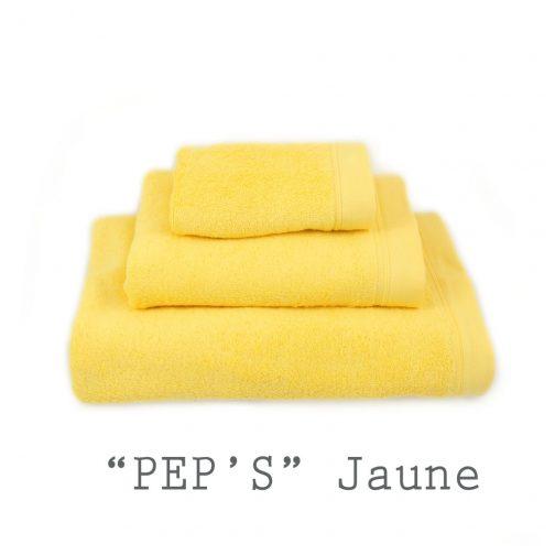 SERVIETTE PERSONNALISABLE jaunes