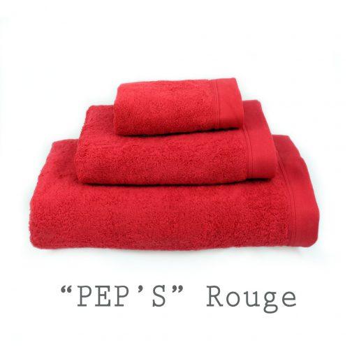 SERVIETTE PERSONNALISABLE peps rouge