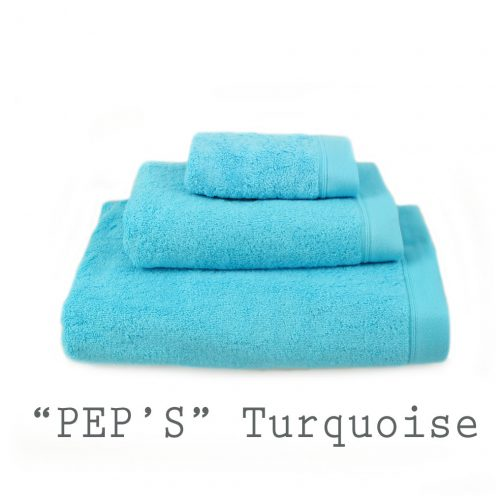 SERVIETTE PERSONNALISABLE peps turquoise