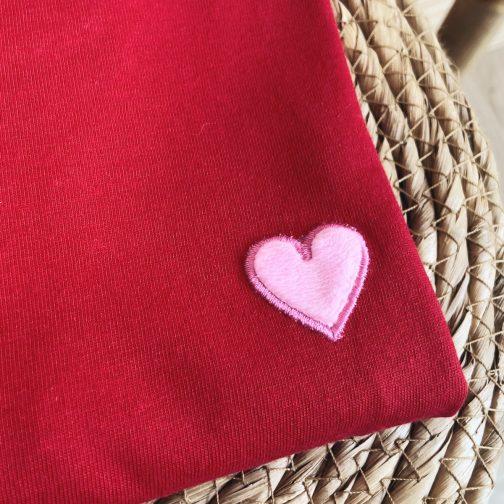 tshirt coeur rose