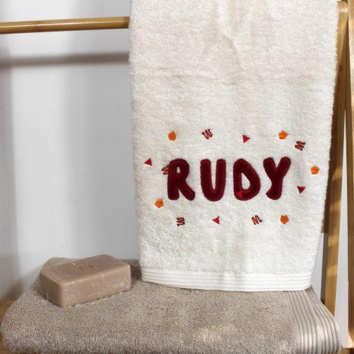 serviette personnalisée RUDY