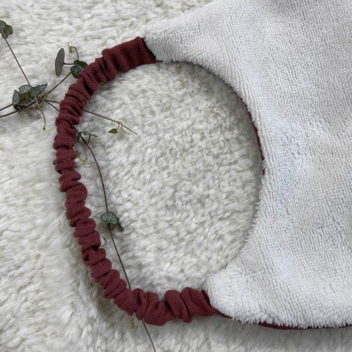 bavoir maternelle personnalisé bois de rose