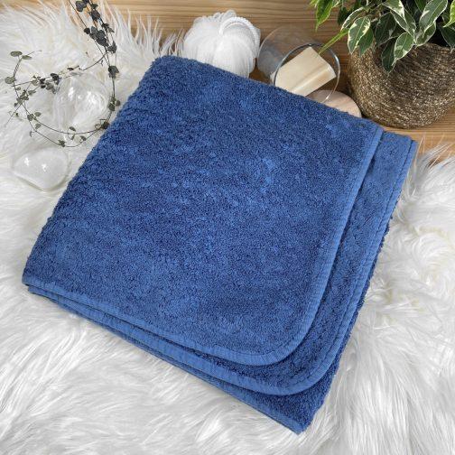serviette éponge Luxe bleu cobalt à personnaliser