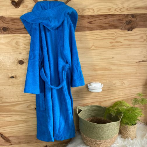 peignoir ado personnalisé bleu turquoise foncé