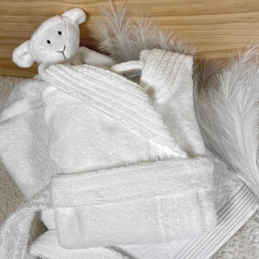 peignoir bébé personnalisé blanc