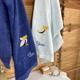 Serviettes de bain personnalisées