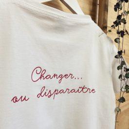 T-shirt mon logo brodé pour femme
