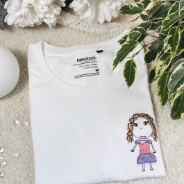 T-shirt femme bio Neutral mon dessin brodé