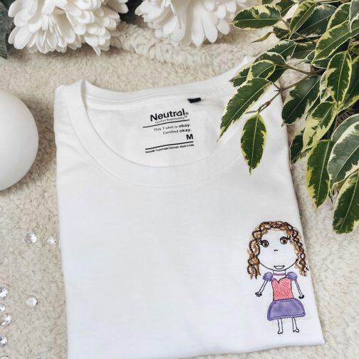 t-shirt femme bio dessin